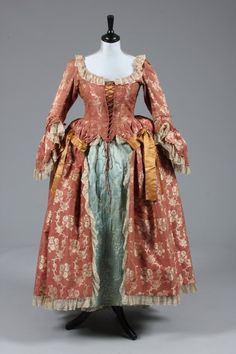Robe à l'anglaise ca. 1760's, altered...