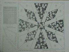 1930s Vintage Quilt Patterns   ... Vintage Quilt Pieced Pattern Mail Order Poinsettia Block Design 1930s