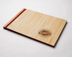 portfolio custom engraved wood A3 folio drawing book photography design graphic designer graduation