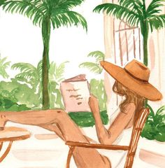 Watercolor Resort, Watercolor Paintings, Watercolour, Painting Inspiration, Art Inspo, Bohemian Art, Fashion Painting, Art Sketchbook, Painting & Drawing