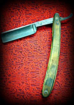 vintage barber blade print photograph straight razor wall art home decor barber shop razor blade print salon decor. $30.00, via Etsy.