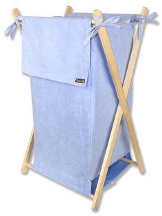 Sweet blue ultrasuede hamper set!
