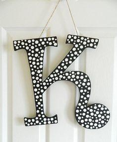 Hanging Monogram  Letter K by BellaFrog on Etsy, $18.00