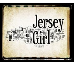 Jersey Girl - Bruce Springsteen - collage