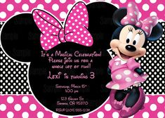 Printable Minnie Mouse Invitation By PartyInnovations09 On Etsy 1000
