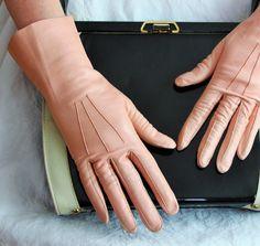 Vintage blush pink soft leather gloves / by FrugalFairyVintage, $24.00
