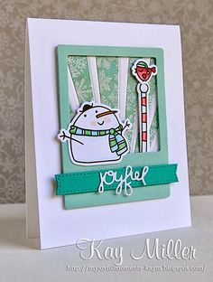 Joyful card by Kay Miller - Paper Smooches - Swanky Snow Dudes stamps and dies, Power Ray dies, Christmas Words dies