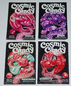 retro candy packaging art
