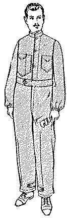 Past Patterns: #7281: Men's Overall Suit: Circa 1919