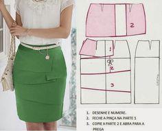 Diferentes patrones de faldas