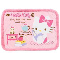 Hello Kitty Throw Blanket Lap Robe Fleece Blanket Reading SANRIO JAPAN