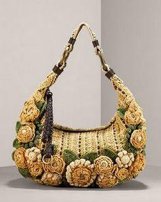 #crochet purse with flowers Crochet Purses, Ladies Handbags, Free Pattern, Satchel Handbags, Purses