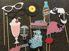 SODA SHOP photo booth props by flutterbugfrenzy on Etsy