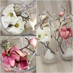 Magnolien: Rosa Frühlings-Dekoration im #April #Frühling