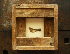 Passage--- Seedpod in Reclaimed Wood Frame. $62.00, via Etsy.