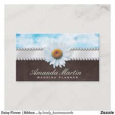 Daisy Flower | Ribbon and Pearls Business Card