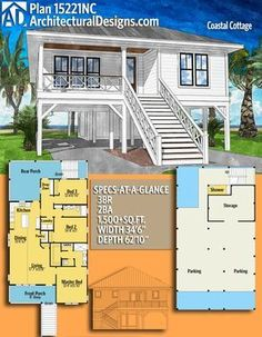 28 best small beach house plans images in 2019 beach house plans rh pinterest com