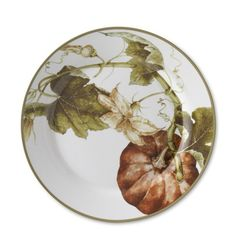 Botanical Pumpkin Dinner Plates, Set of 4 - thanksgiving table - dinnerware - thanksgiving dinner