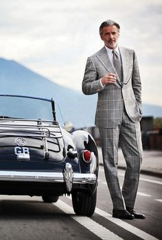 MG - Grey large check summer suit