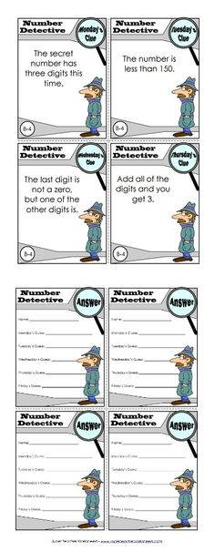 Your students are going to love the number detective activities we have! Help your students solve the mystery of the secret number, and help them strengthen their math skills too!