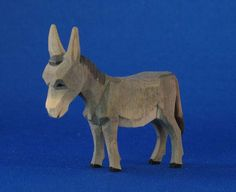 Donkey, Hand-carved