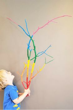 Make some rainbow sticks! A bright, fun and easy way to brighten your day!
