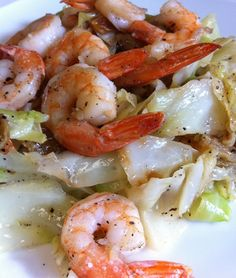 Shrimp and Cabbage Stir-Fry- easy and paleo