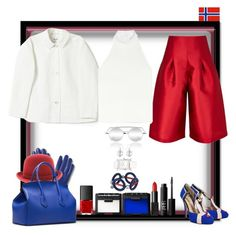 """Heja Norge!"" by ritva-harjula ❤ liked on Polyvore featuring Paper London, Merona, PALLAS, NARS Cosmetics, House of Holland, Hermès and Minna Parikka"