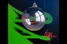 Christmas ball stencil art