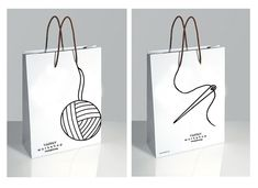 Cute design for gift bag for hand knitted items! Shopping Bag Designs by Zemeta Choi, via Behance PD Creative Bag, Creative Design, Shopping Bag Design, Shopping Bags, Paper Bag Design, Glasses Logo, Bag Packaging, Design Packaging, 2 Logo