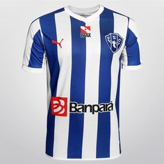 Camisa Puma Paysandu I 2015 s/n° - Azul claro+Branco