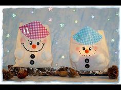Süße Schneemann-Lichter, Basteln mit Kindern - YouTube
