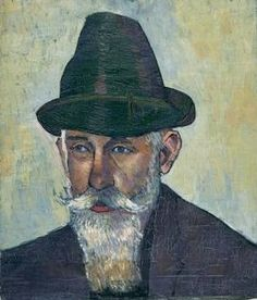Felix Nussbaum (German-Jewish: 1904 – 1944) - Portrait of a Man with Hat (Man with white Beard) 1926