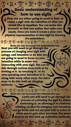 understanding witchcraft esoteric alchemy unknown sigils magick source basic pagan how use of to Basic Understanding of How to Use Sigils source unknownYou can find Sigils witchcraft and more on our website Wiccan Spell Book, Wiccan Witch, Magick Spells, Witch Spell, Pagan Witchcraft, Summoning Spells, Spell Books, Tarot, Magic Symbols