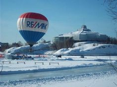 RE/MAX Balloon at Ramsey Lake Pond in Greater Sudbury, Ontario.