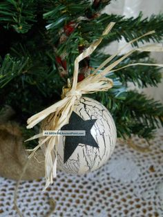 Primitive Christmas Decorations | Primitive Christmas Ornaments...crackle paint | xmas