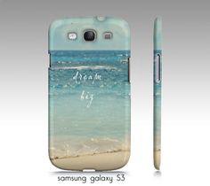 samsung S3, S4 iphone4,5 case- dream big, ocean