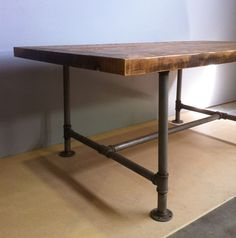 To Do Something Table Pipe Legs With Wooden Tips Percolating Projects Pinterest Furniture I Am And