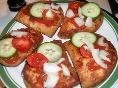 Caprese Salad, Baked Potato, French Toast, Potatoes, Bread, Baking, Breakfast, Ethnic Recipes, Food