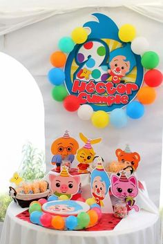 Plim Plim children's theme party - Celebrat : Home of Celebration, Events to Celebrate, Wishes, Gifts ideas and more ! Second Birthday Ideas, Birthday Themes For Boys, Circus Birthday, Baby Birthday, Birthday Parties, Party Sweets, Party Cakes, Time Kids, Party Decoration