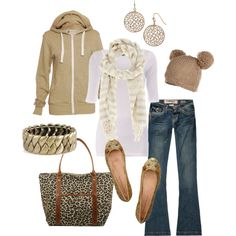 """cold weather cozy"" by htotheb on Polyvore minus the hat for me ;)"
