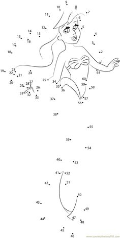 Worksheets 805229608363329487 - Printable Coloring Pages Ariel Little Mermaid Connect Dots – Printable Coloring Pages Source by dabladjin Printable Preschool Worksheets, Kindergarten Math Worksheets, Worksheets For Kids, Printable Coloring Pages, Dot To Dot Puzzles, Dot To Dot Printables, Dotted Drawings, Dots Free, Mazes For Kids