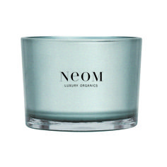 Neom Harmonise Candle - With pine, cedarwood and eucalyptus, this is a lovely candle for daytime, perhaps if you've got folks round for lunch, providing a fresh, earthy, woody scent soothingly evocative of holiday walks through the forests. Neom Organics is a Harrogate-based company and uses only vegetable wax and pure essential oils. Burn for  2-4 hours at a time. Each candle has 3 wicks and burns for up to 50 hours and costs £39.50 at www.neomorganics.com.