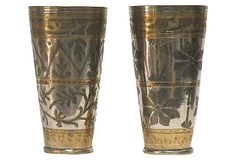 Love these for storing colored pencils in the study or swizzle sticks in the kitchen! Indian Lassi Cups, Pair on OneKingsLane.com