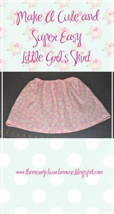 e92203499 Easy little girl's skirt sewing tutorial. Girls Skirt Tutorial, Little Girl  Skirts, Little