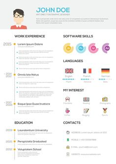 Educational infographic & data visualisation Flat Resume with Infographics. Resume cv set on Behance … Infographic Description Flat Resume with Infographics. Resume cv set on Behance – Infographic Source – Resume Design Template, Cv Template, Resume Templates, Templates Free, Template Illustrator, Ai Illustrator, Bon Cv, Infographic Resume Template, Free Infographic