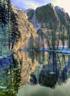 Midwinter in Yosemite Valley, Yosemite National Park, California; photo by Bill Gallagher