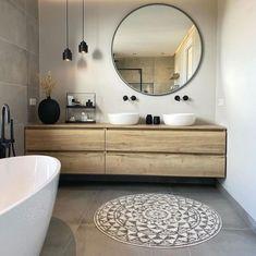 Rustic Bathrooms, Modern Bathroom, Small Bathroom, Home Room Design, Home Interior Design, Small Cottage Interiors, Bathroom Design Luxury, Bathroom Trends, Laundry In Bathroom