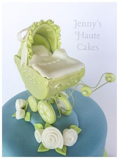 Little Carriage Baby Shower Cake and Cupcakes