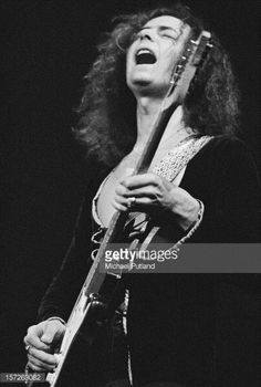 Guitarist Ritchie Blackmore from English rock band Deep Purple performs at the…
